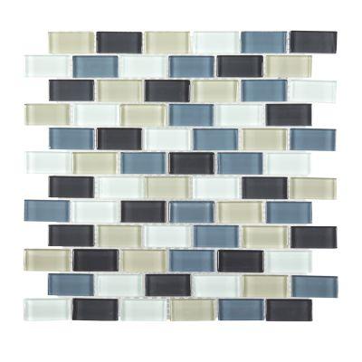 blue glass Shoreline Brick Glass Mosaic Tile