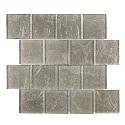 white glass Golden Valley Glass Mosaic Tile