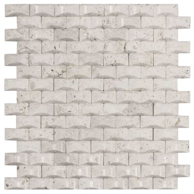 tan marble Cotton Bales 12x12 Beige Marble Mosaic Wall Tile