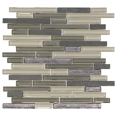 brown, tan glass Silver Lace Ocean Glass & Quartz Mosaic Wall Tile