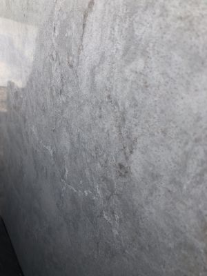gray, white quartz Bianco Drift #6131 by caesarstone