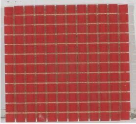 red glass Crystal Glass 1x1 Matte Red