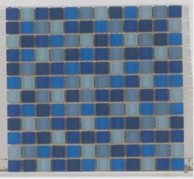 blue glass Crystal Glass 1x1 Matte Blue Blend