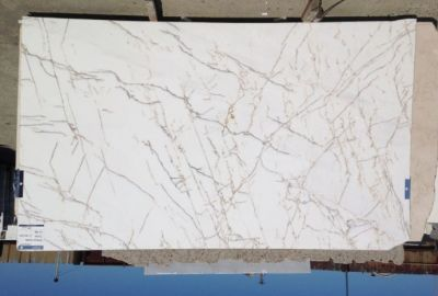 gold, white, yellow marble Calacatta Spider