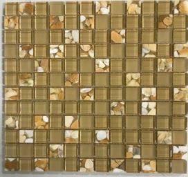 tan glass Glass Aquastone 1x1 Honey Onyx