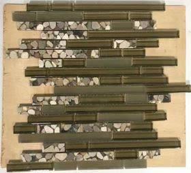 tan glass Glass Aquastone Mini Brick Brenta