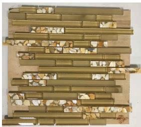 tan glass Glass Aquastone Mini Brick Honey Onyx