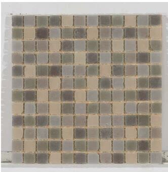brown, tan glass Tumbled Glass 1x1 Brown Blend