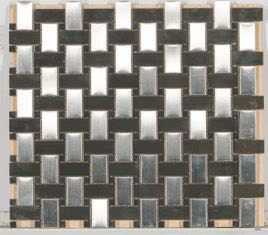 gray metallic Metal Mosaic Stainless Steel