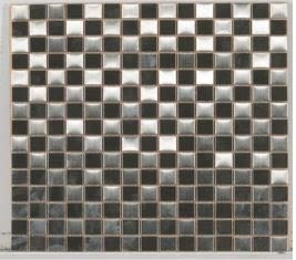 gray metallic Metal Mosaic Checkerboard Stainless Steel