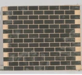 gray metallic Metal Mosaic Stainless Steel 3/4 X 1/2 Brick