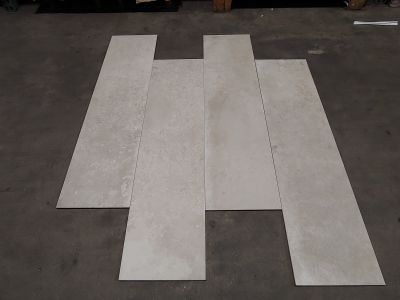 gray, tan, white, beige porcelain 12x48 Unika Ecru Rectified