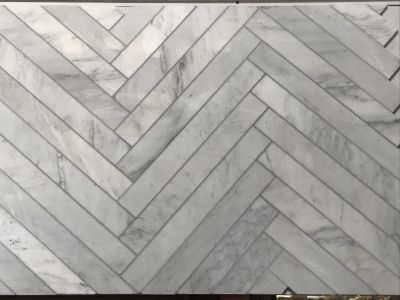 gray, white marble Calacatta Carrara 3x24 Polished Marble Tile by c-line marble and granite