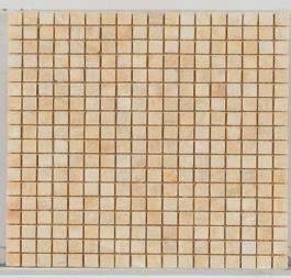 tan marble Stone Mosaic 5/8 X 5/8 Tumbled Honey Onyx