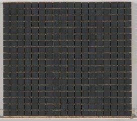 black marble Stone Mosaic 5/8 X 5/8 Tumbled Jet Black