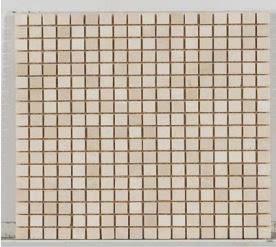 tan marble Stone Mosaic 5/8 X 5/8 Tumbled Botticino