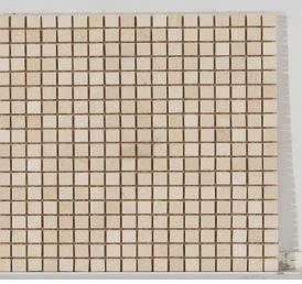 tan marble Stone Mosaic 5/8 X 5/8 Tumbled Crema Marfil