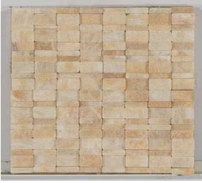 tan marble Stone Mosaic Downtown Tumbled Honey Onyx