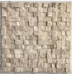 tan marble Stone Mosaic Breakfront Crema Marfil