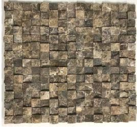 brown marble Stone Mosaic Breakfront Tumbled Emperador