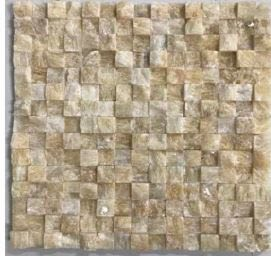 tan marble Stone Mosaic Breakfront Tumbled Honey Onyx