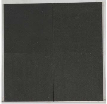 black porcelain Modern Limestone Brushed 12x12 Charcoal Black