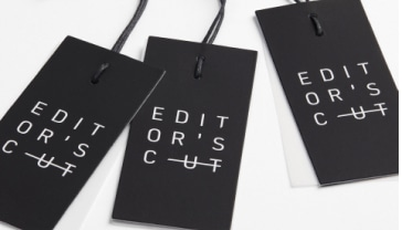Editor's Cut clothing labels