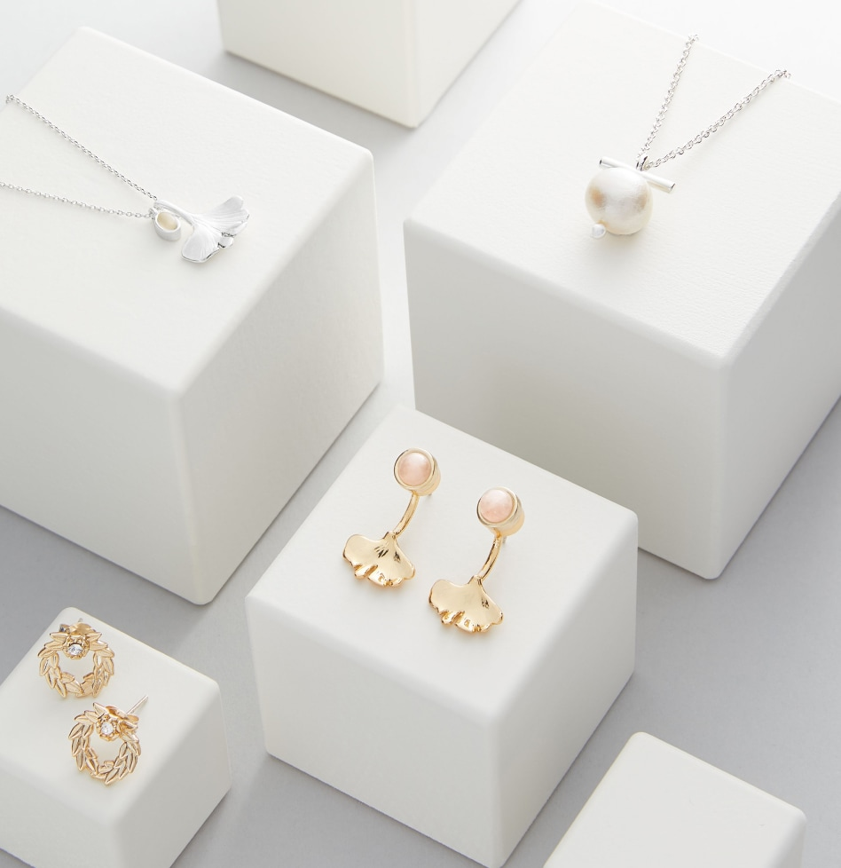 Selection of delicate jewellery