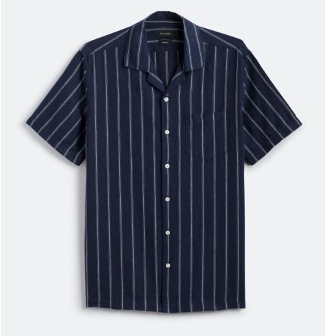 Short sleeved navy shirt