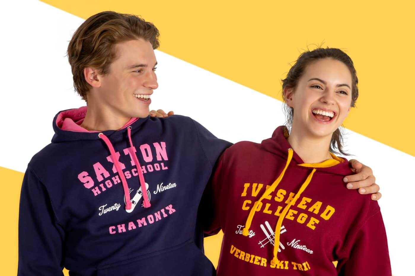 school ski trip season seasonaire hoodies