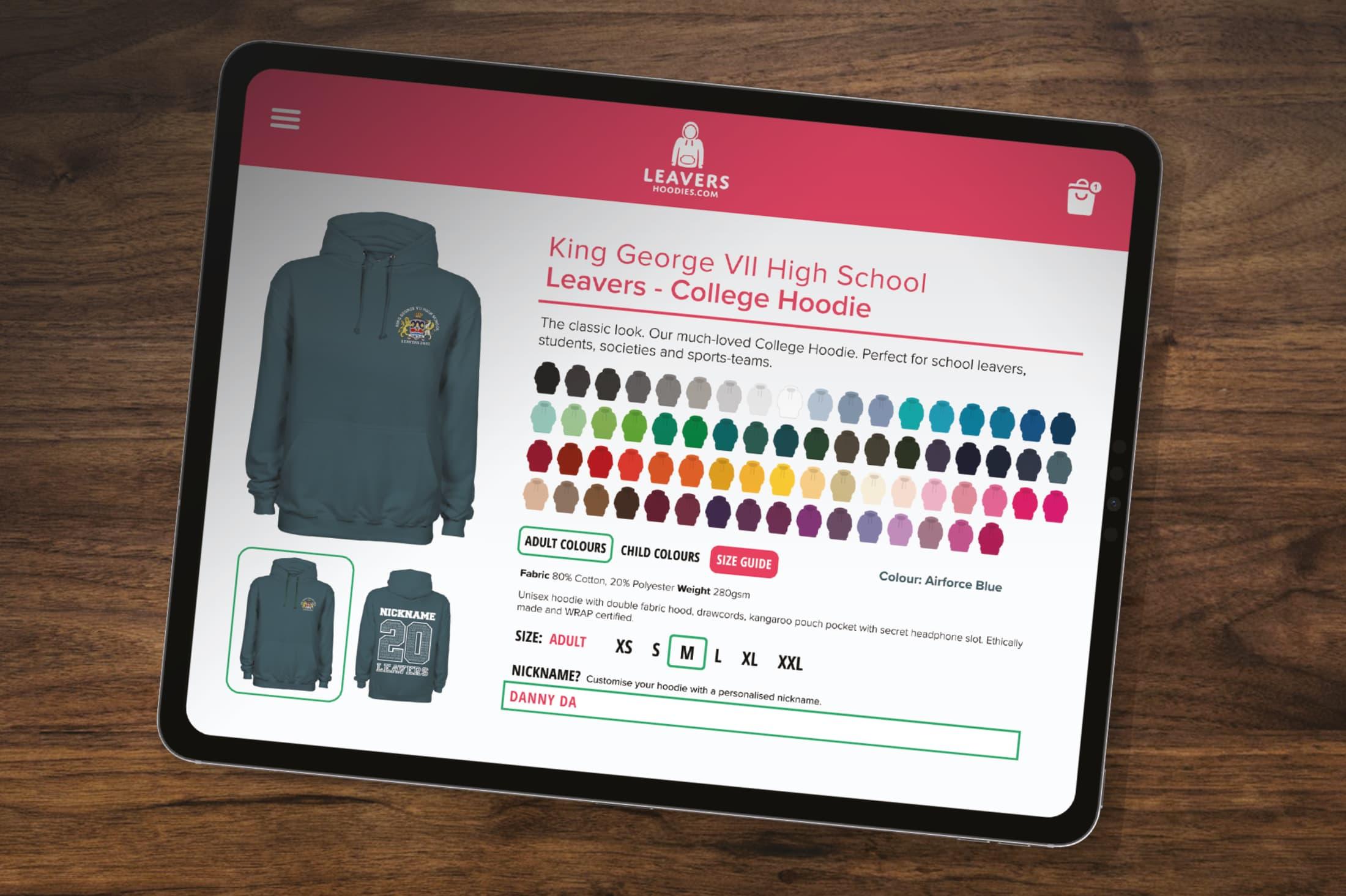 Leavers hoodies school shop - order online