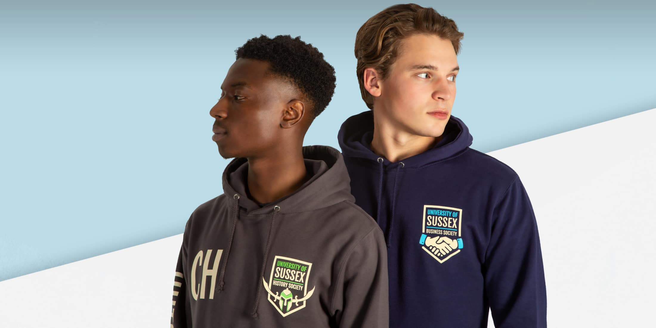 customise printed university hoodies