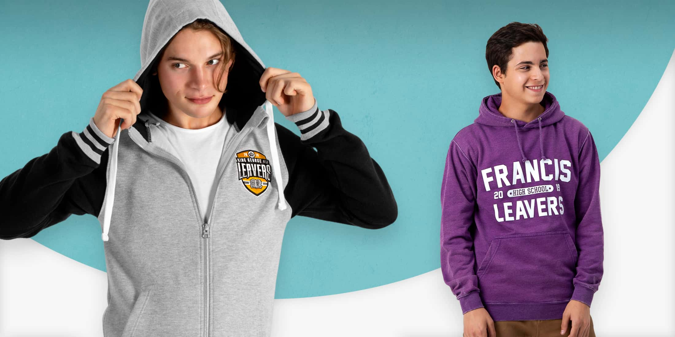 Leavers hoodies colours and styles