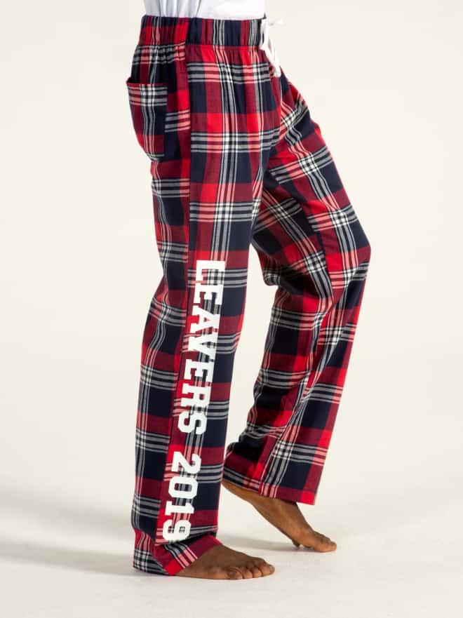 Custom printed embroidered pyjama bottoms students children pjs loungewear