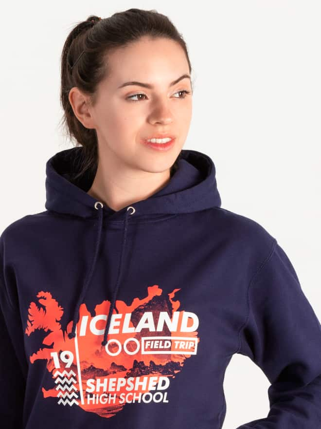 School trip hoodies for children, student,s primary, junior, map print