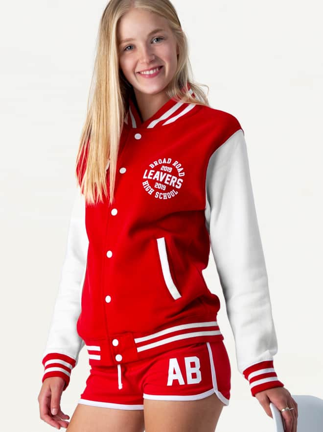 American high-school style college letterman varsity jackets