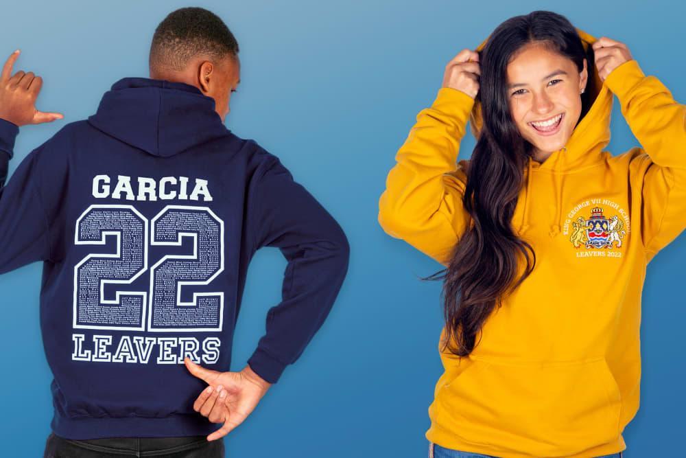 leavers hoodies sweatshirts jumpers 2022 back prints