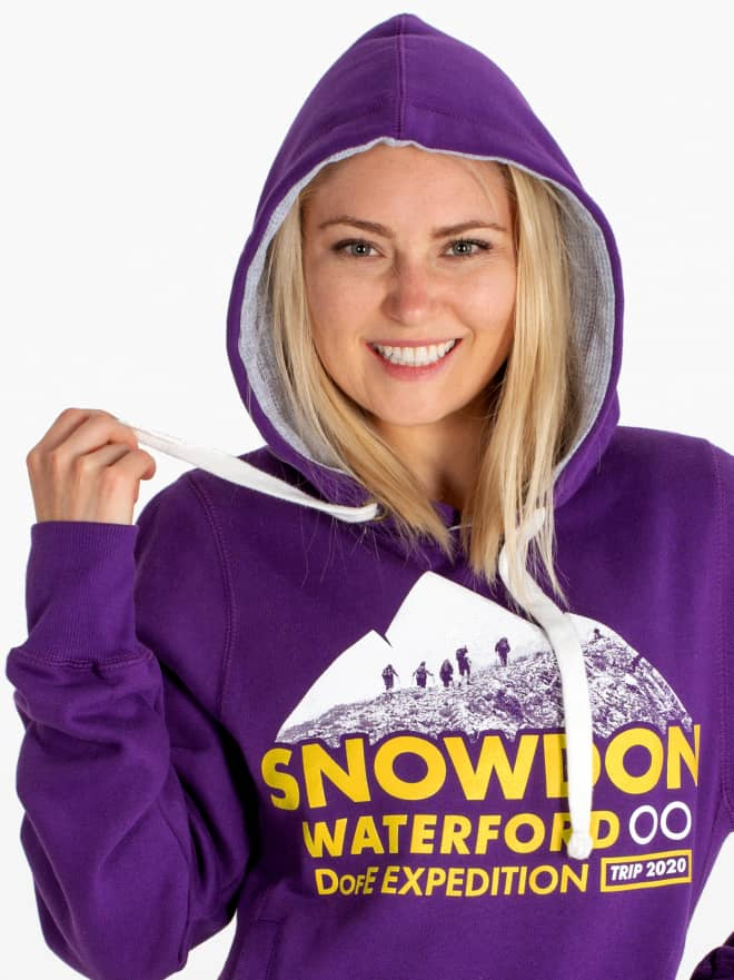 School trip hoodies for children, student,s primary, junior, map print