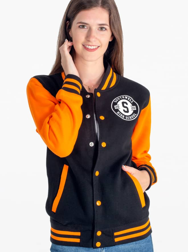 American high-school style college letterman varsity jackets