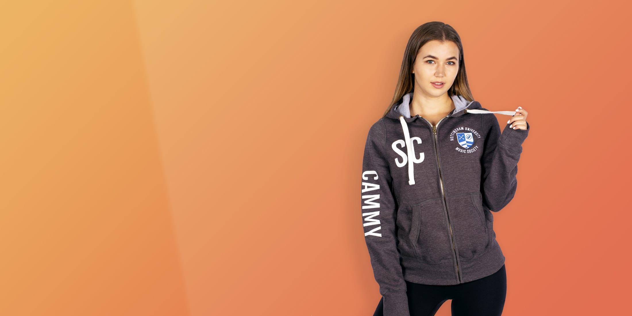 custom name university hoodies