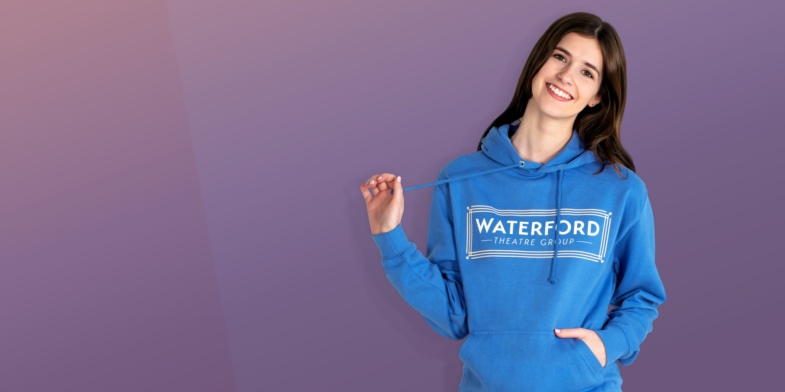 Dance and theatre group logo hoodies