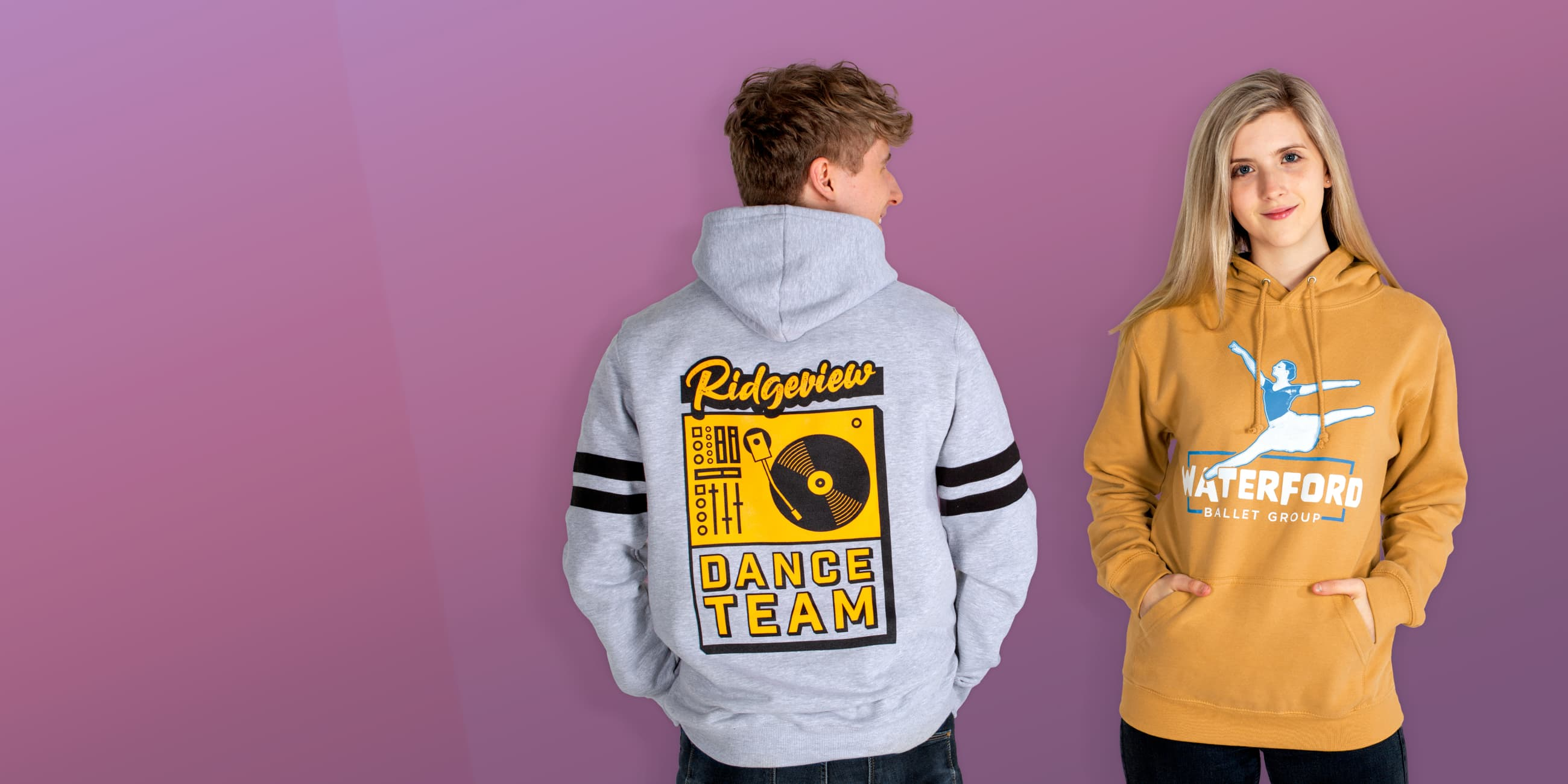 customise printed dance hoodies