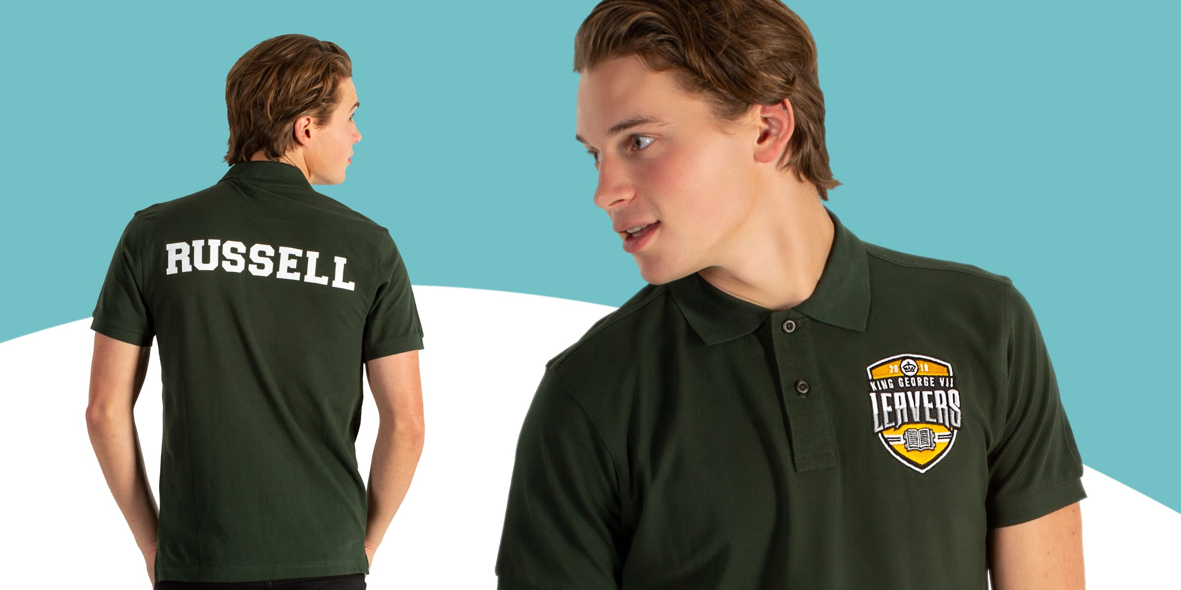 Printed and embroidered logo cotton polo shirts