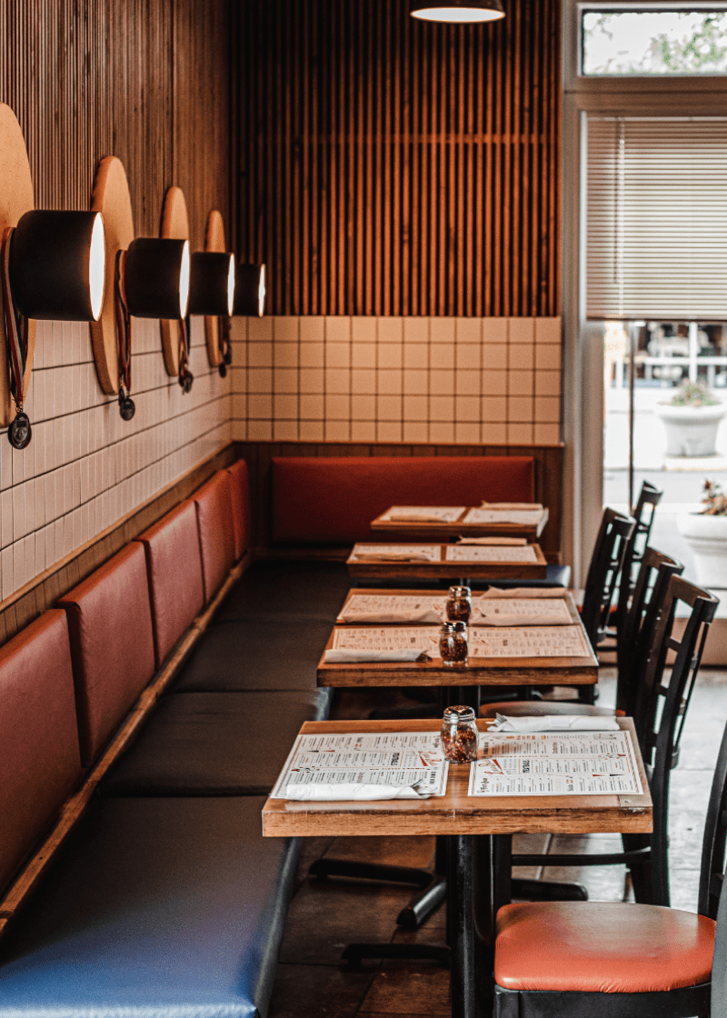 Custom Banquette + Commercial Space