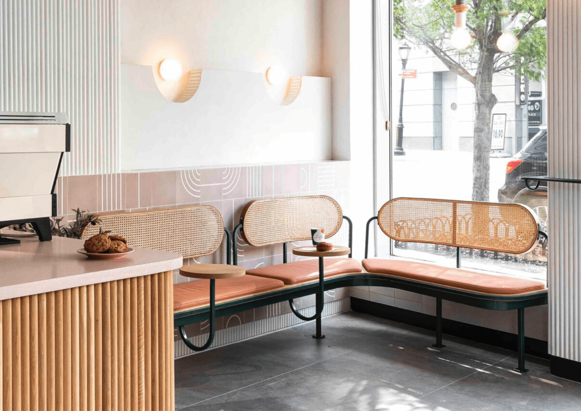 Custom Banquette + Cafe Inatesso