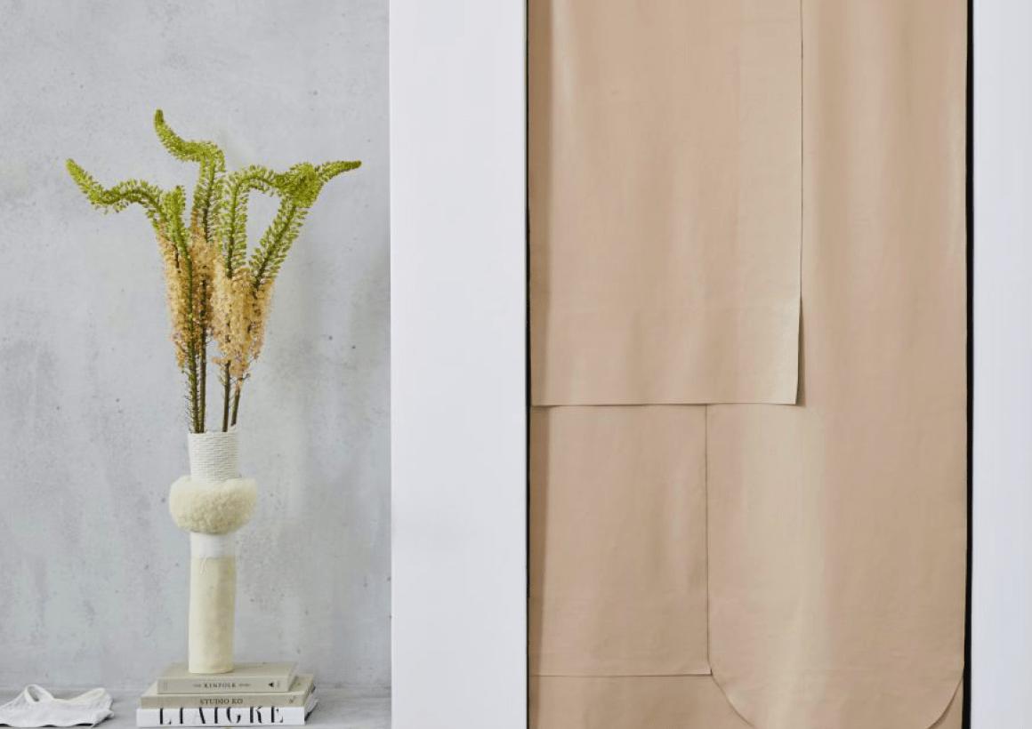 Custom Leather Curtain + Alala Showroom