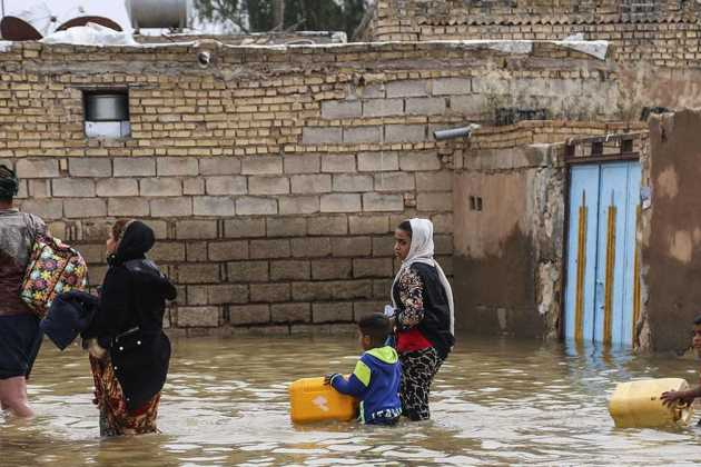 Iran flood people