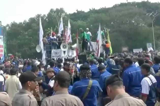 Krakatau Steel protest