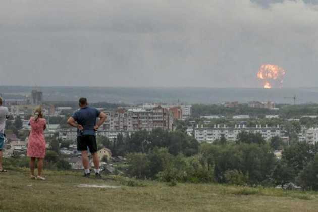 Rocket engine explosion