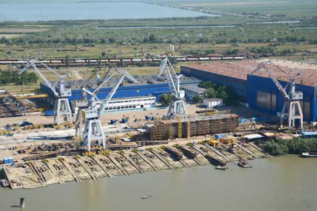 Romanian port Galati